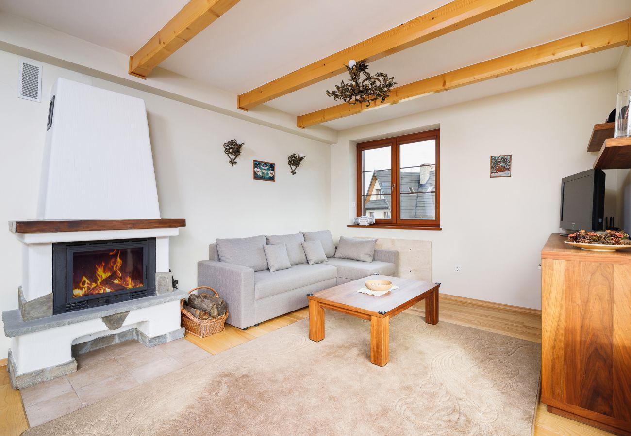 Wohnung, Miete, Wohnzimmer, Sofa, Kamin, Osada, Gubałówka, Zakopane, Berge