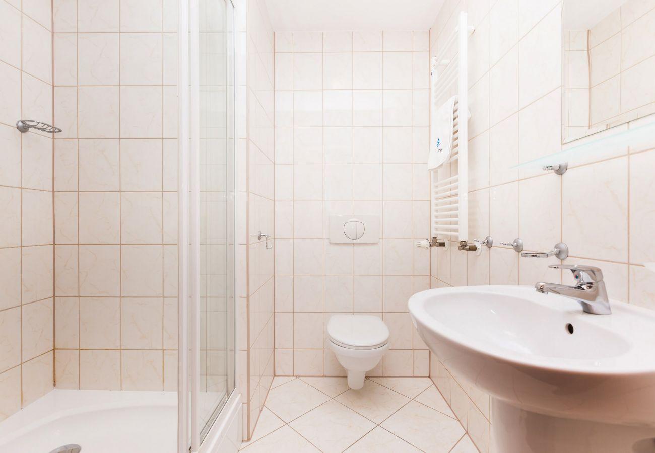 bathroom, shower, sink, toilet, mirror, rent