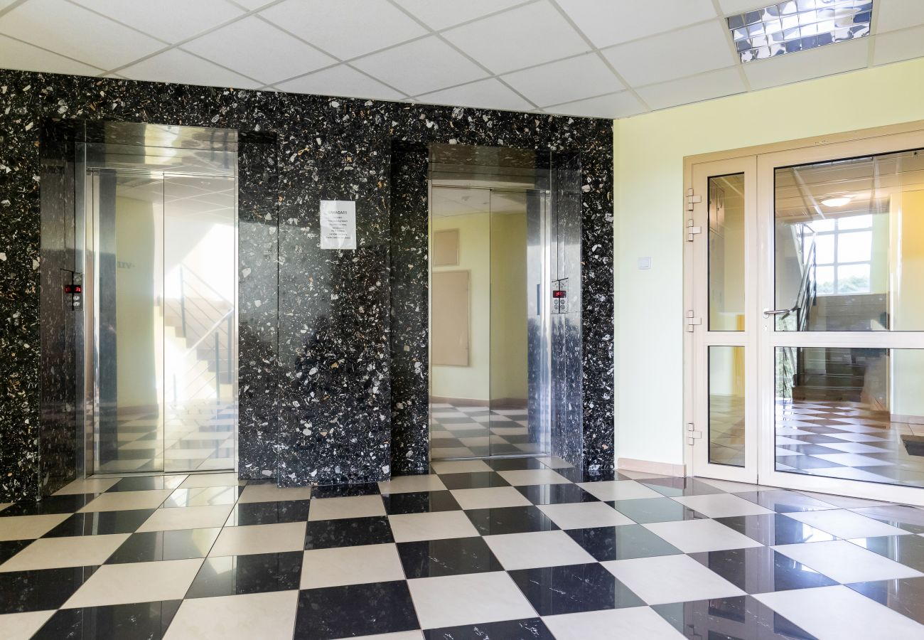 corridor, apartment building, rent
