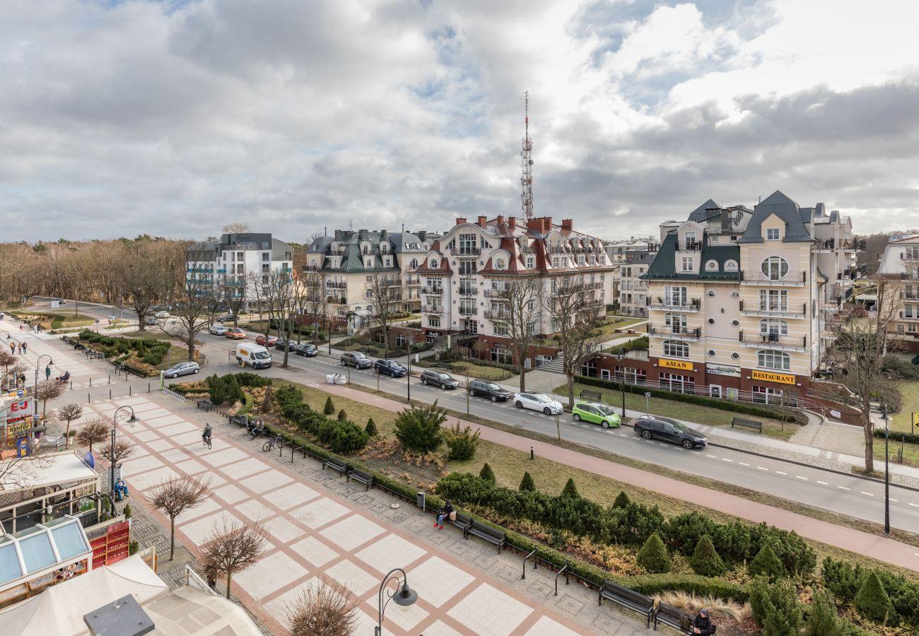apartament, wynajem, nocleg, Baltic Park, widok na miasto, balkon, Świnoujście, promenada