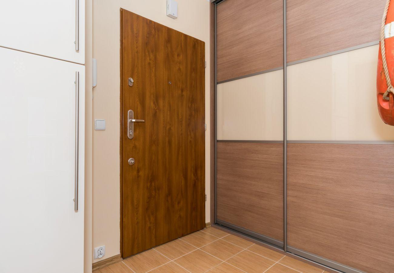 drzwi, wystrój, pokój, korytarz