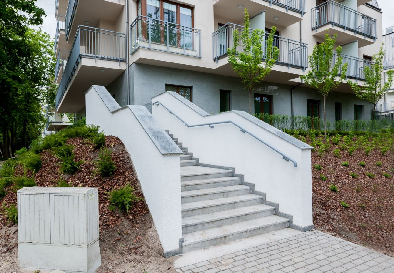 Aquamarina, Świnoujście, schody wejściowe, widok, budynek