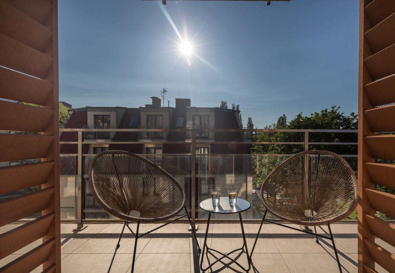 balkon, wynajem, apartament, Feniks, wakacje