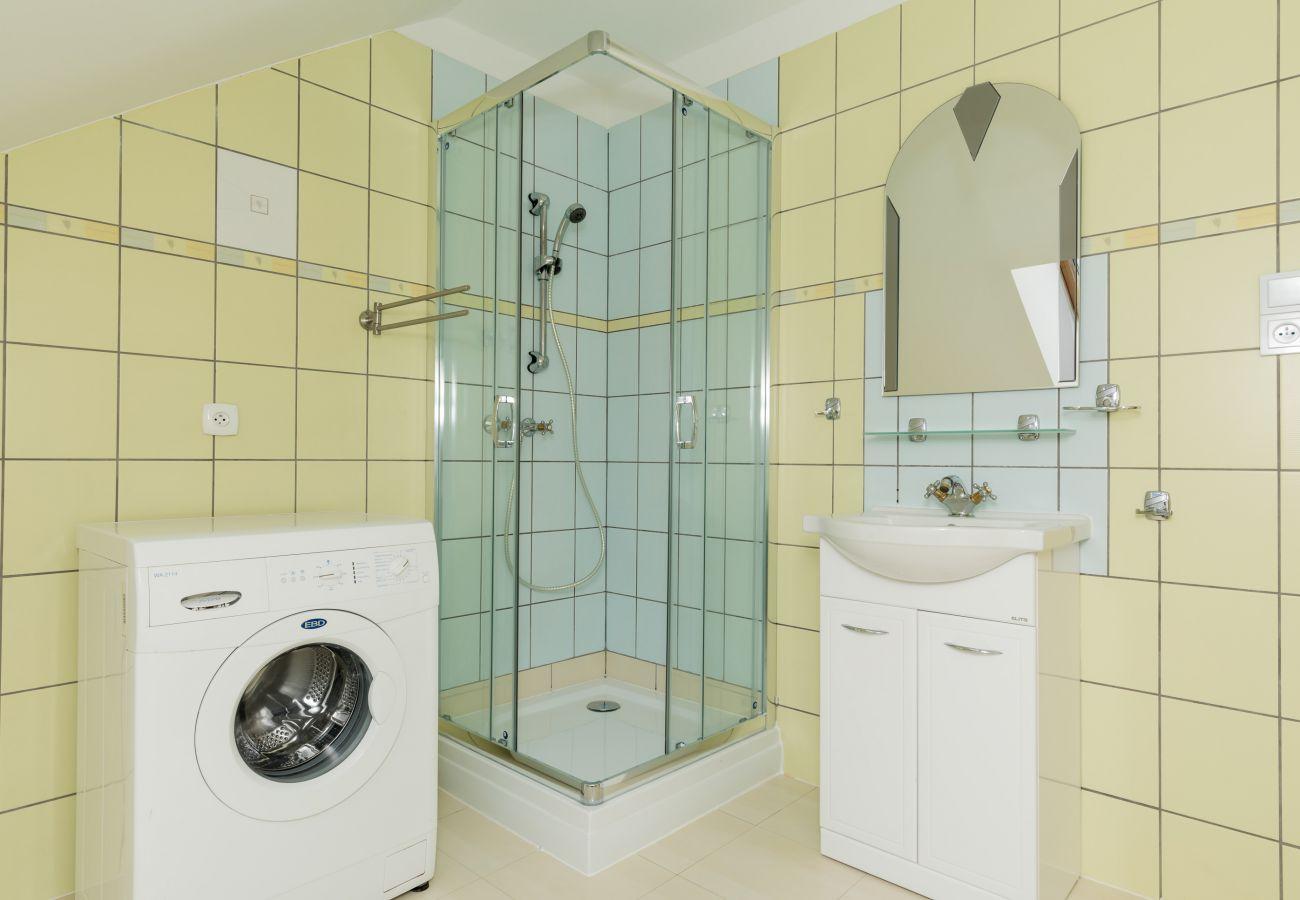 łazienka, pralka, prysznic, umywalka, WC