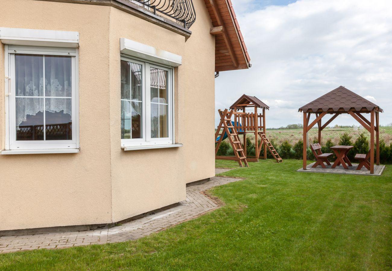 dom wakacyjny, Mewa, budynek, ogród, zewnątrz, grill, wyspa Wolin, Zastań, wynajem