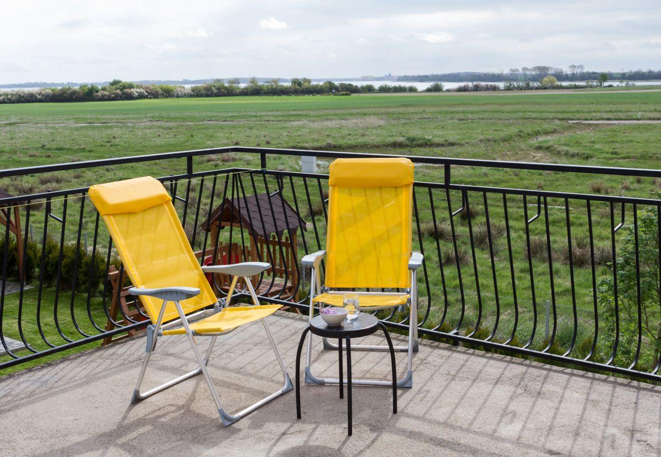 balkon, meble ogrodowe, widok, wynajem