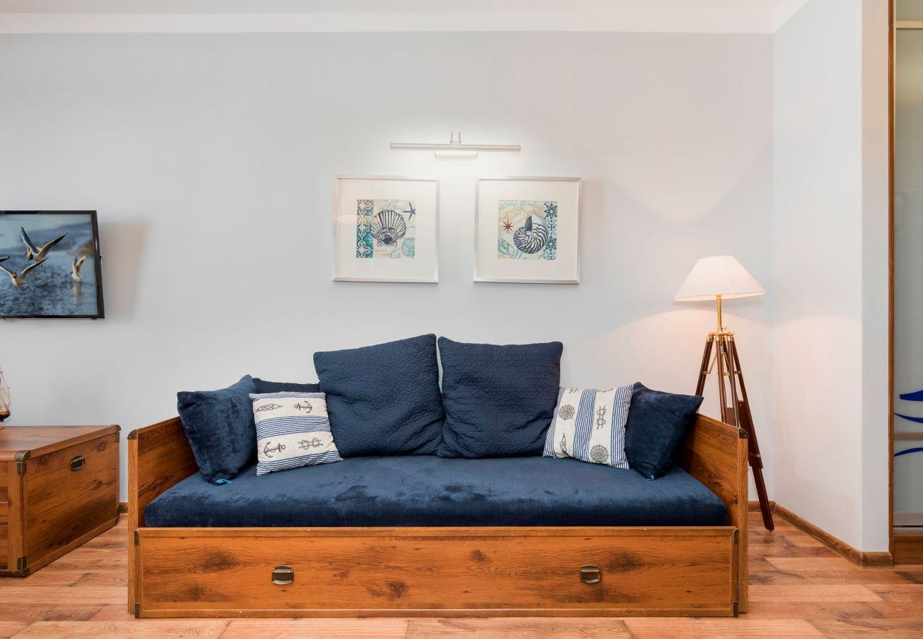 pokój, sofa, TV, obraz, wynajem