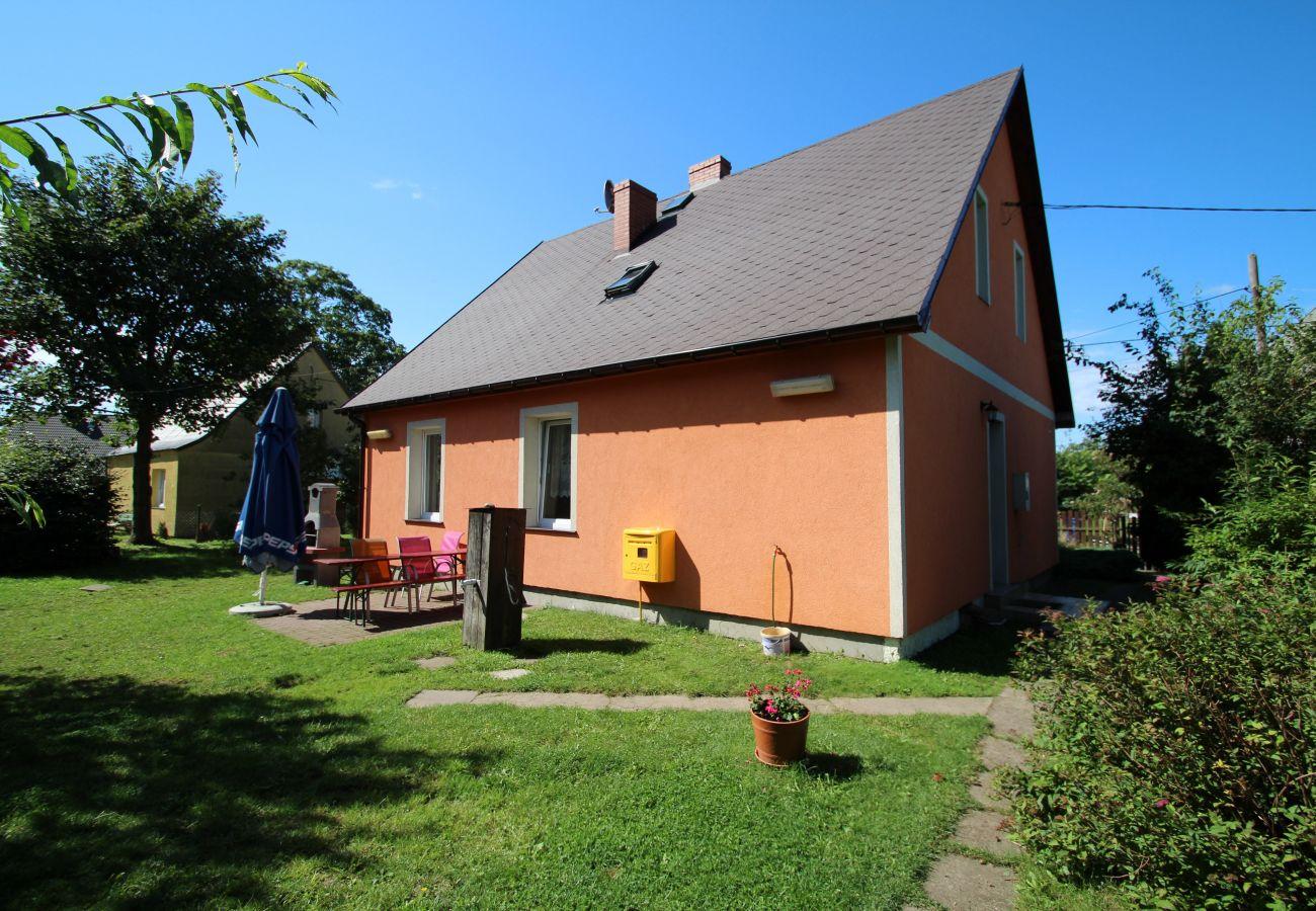 dom wakacyjny, Viking, wyspa Wolin, wynajem, zewnątrz, ogród, Grill, wakacje