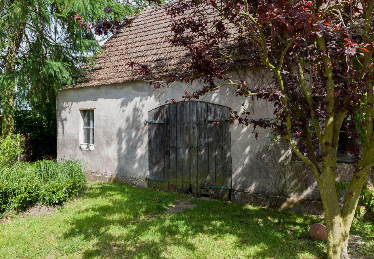 dom wakacyjny, Viking, wyspa Wolin, wynajem, zewnątrz, budynek, ogród