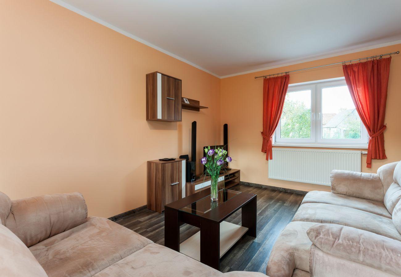 wynajem, pokój, sofa, stolik kawowy, RTV