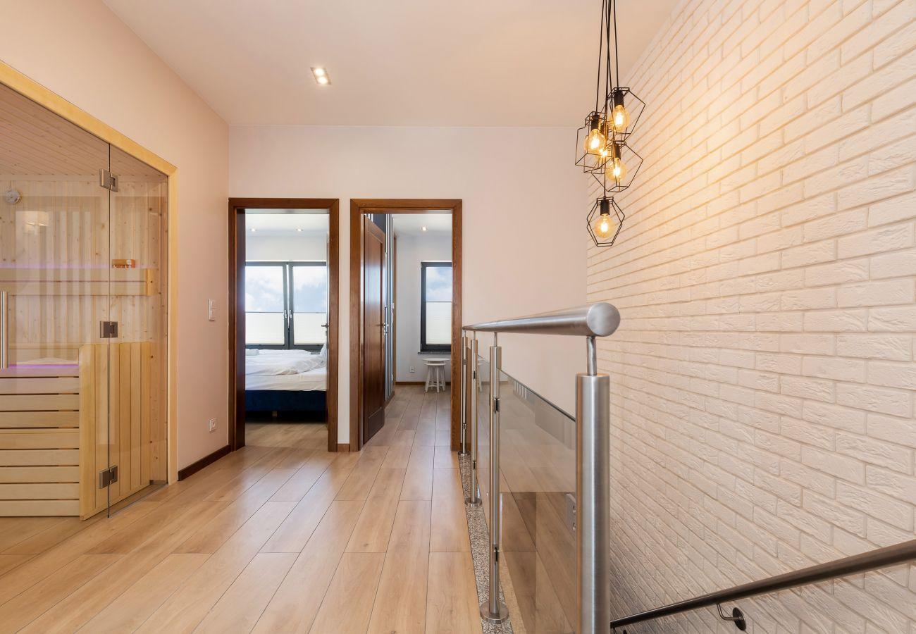 wnętrze, piętro, schody, sauna, wynajem