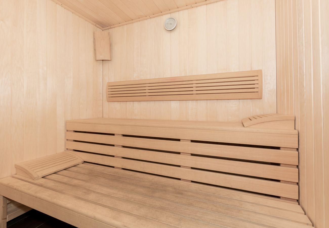 sauna, wohnung, innensauna, wohnhaus, holzsauna, innenraum, miete