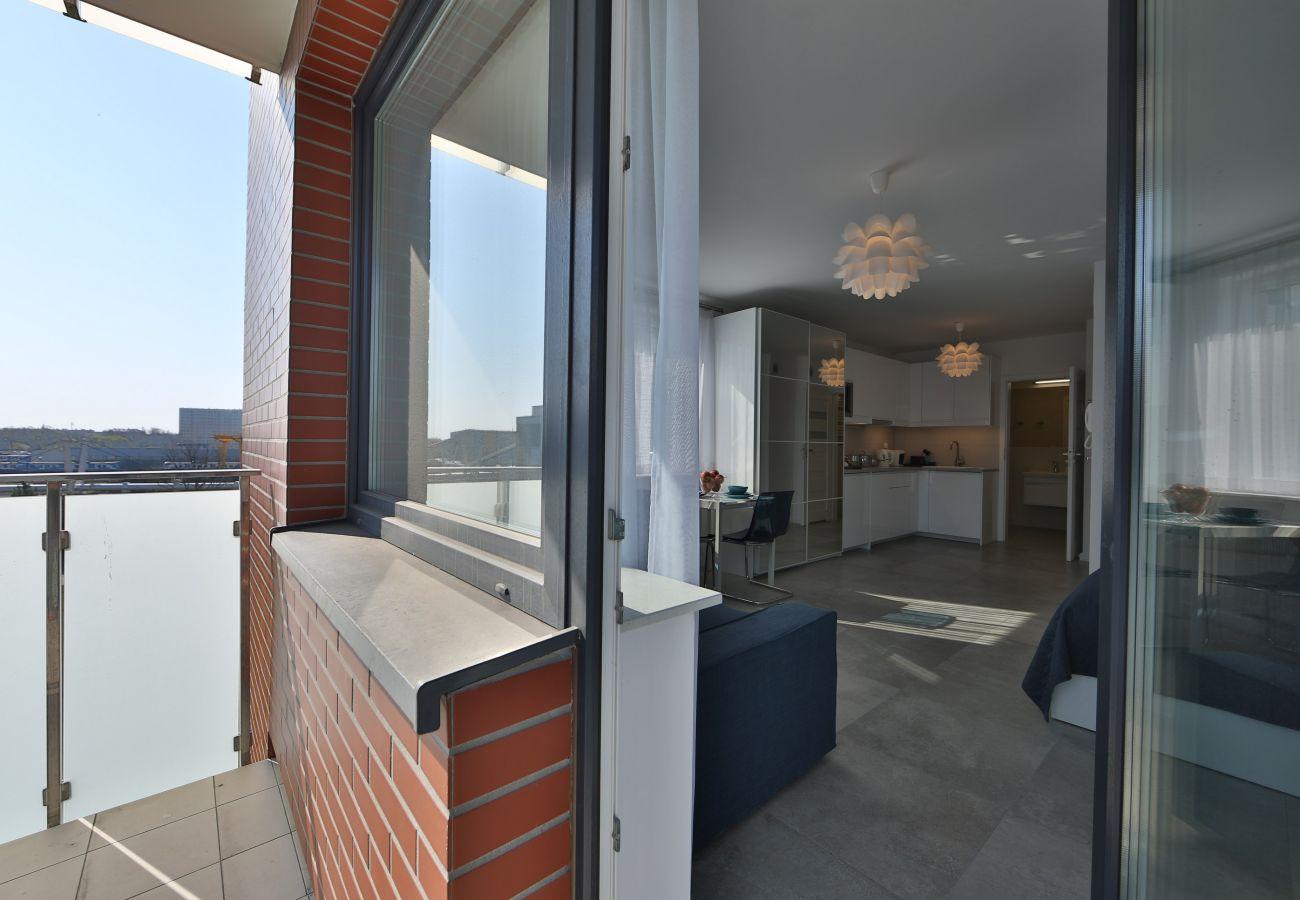 balkon, widok z balkonu, na zewnątrz, widok, mieszkanie, wynajem