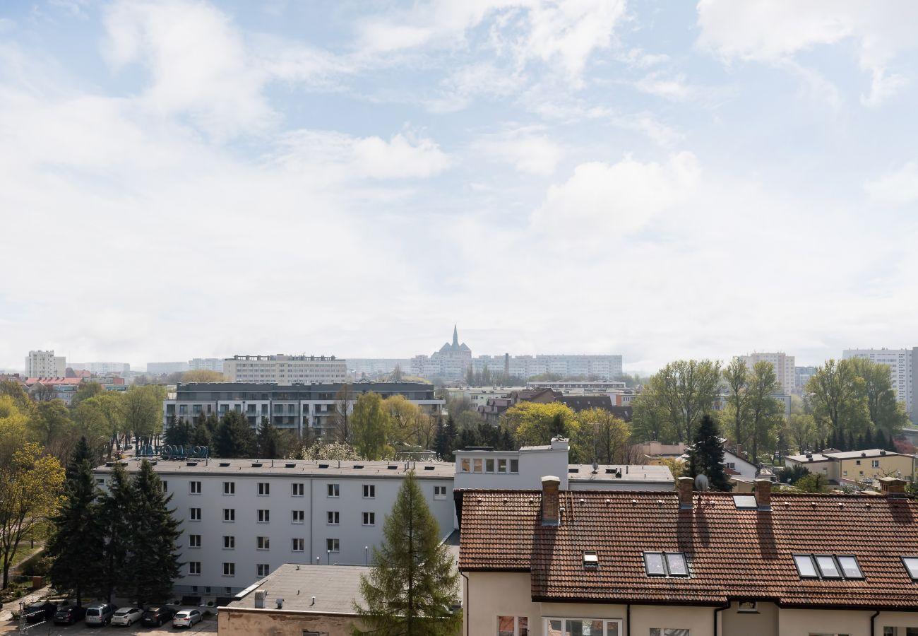 widok, widok z mieszkania, widok z balkonu, widok na miasto, widok z zewnątrz, mieszkanie, z zewnątrz mieszkanie, wynajem