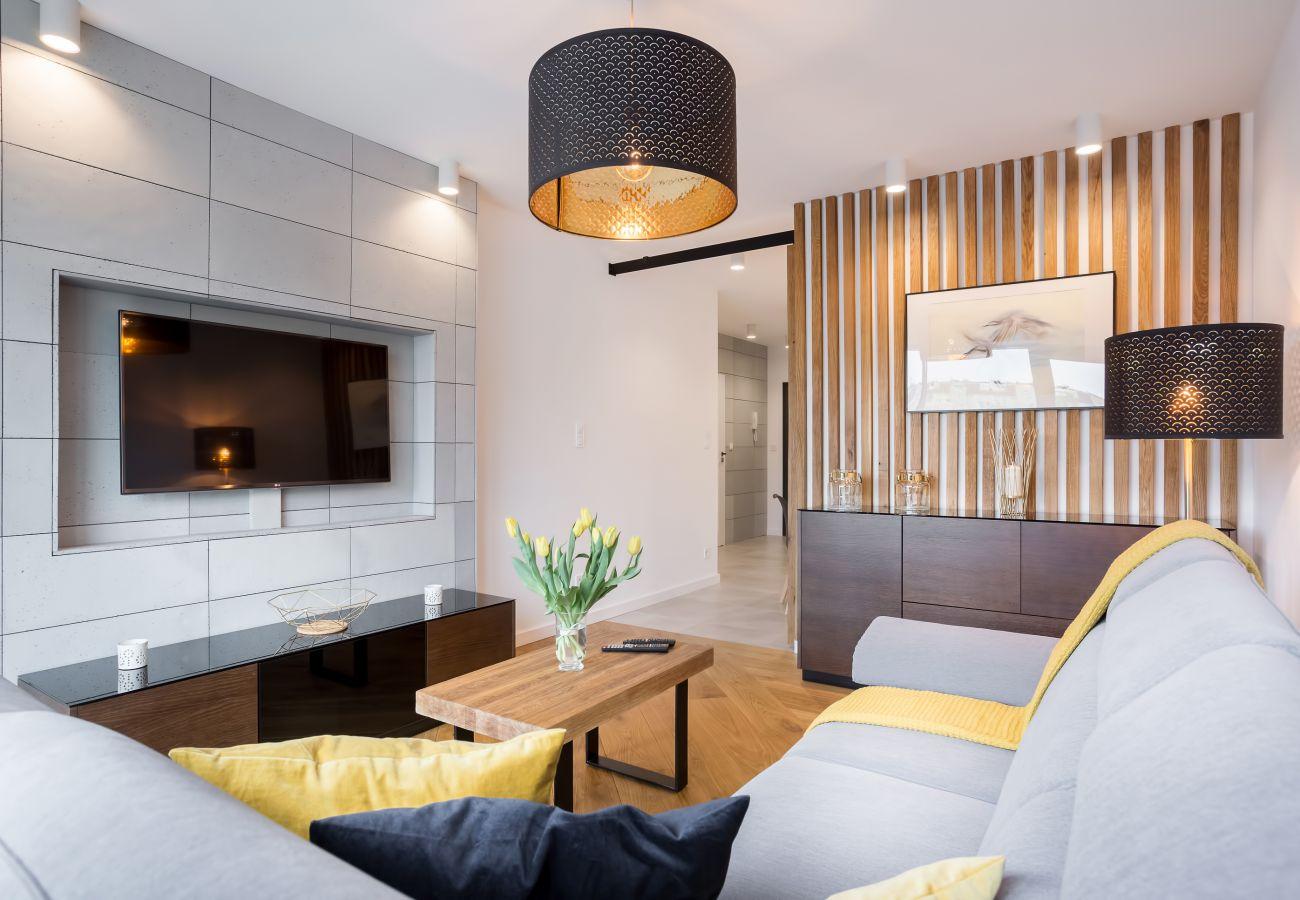 salon, sofa, stolik, telewizor, apartament, wnętrze, wynajem
