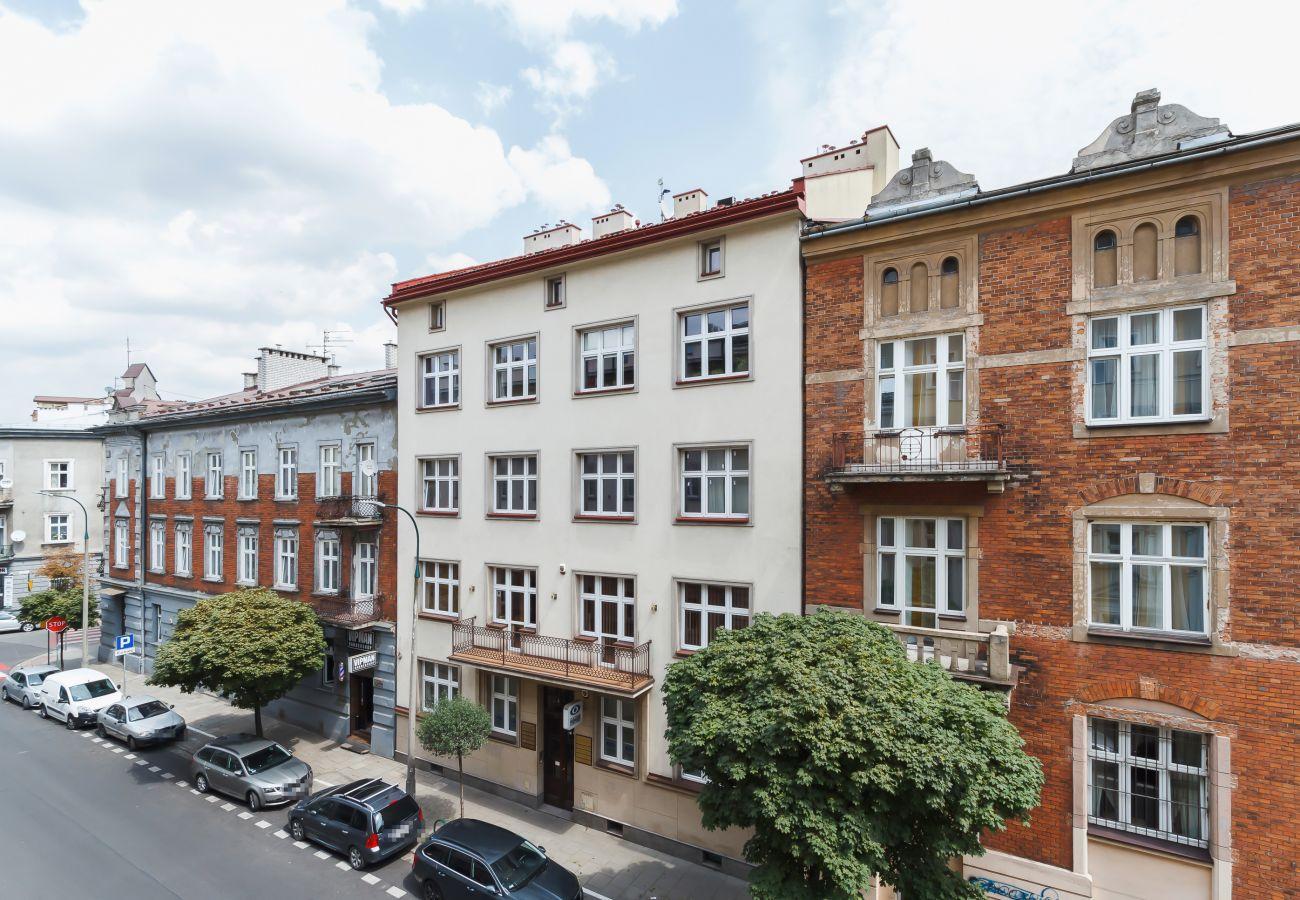 apartament, widok, ulica, Ariańska, Kraków