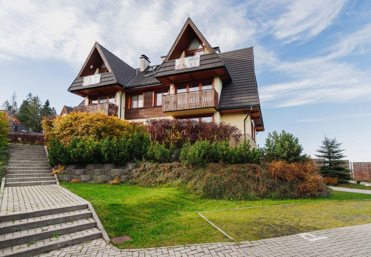 apartament, wynajem, na zewnątrz, budynek, Nowe Bystre, Osada, Gubałówka, Zakopane, góry