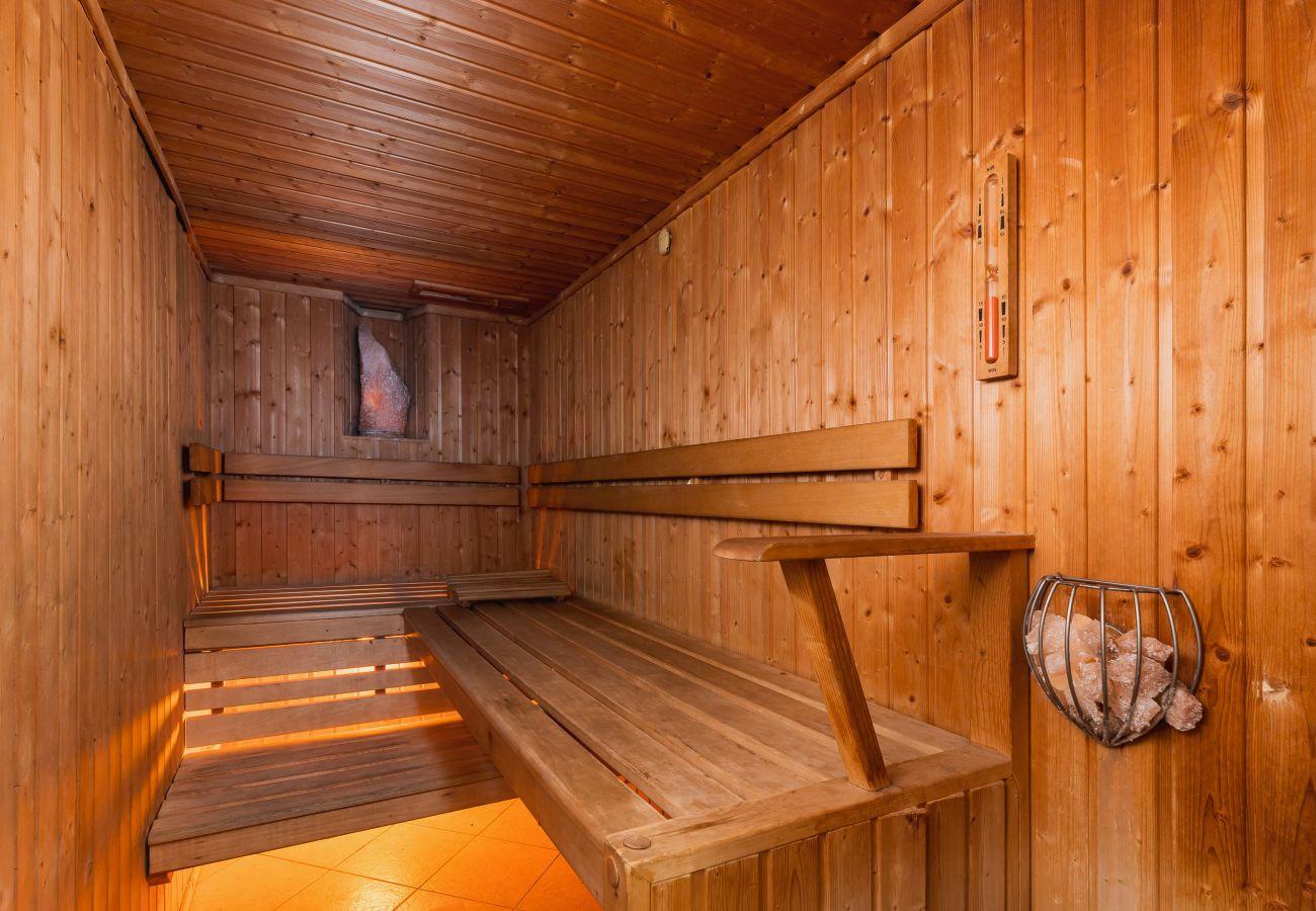 sauna, ośrodek, wnętrze, wynajem