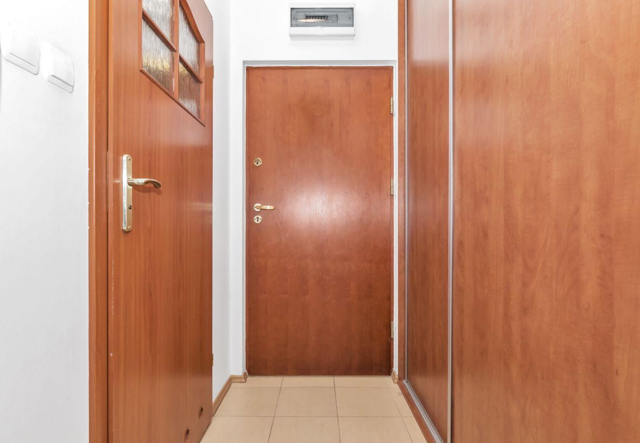 wnętrze, studio, wnętrze studia, szafa, korytarz, wejście, wynajem