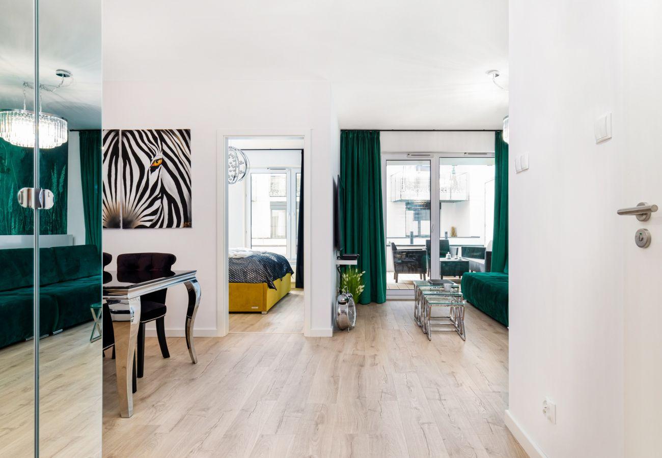 salon, sofa, stolik kawowy, telewizor, apartament, wnętrze, wynajem