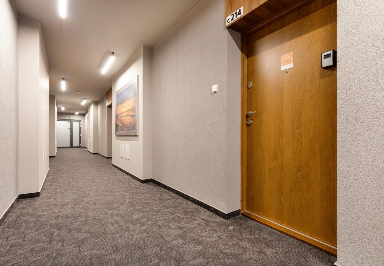 apartament, wynajem, zewnątrz, budynek, hol, korytarz, Nadmorskie Tarasy, Kołobrzeg