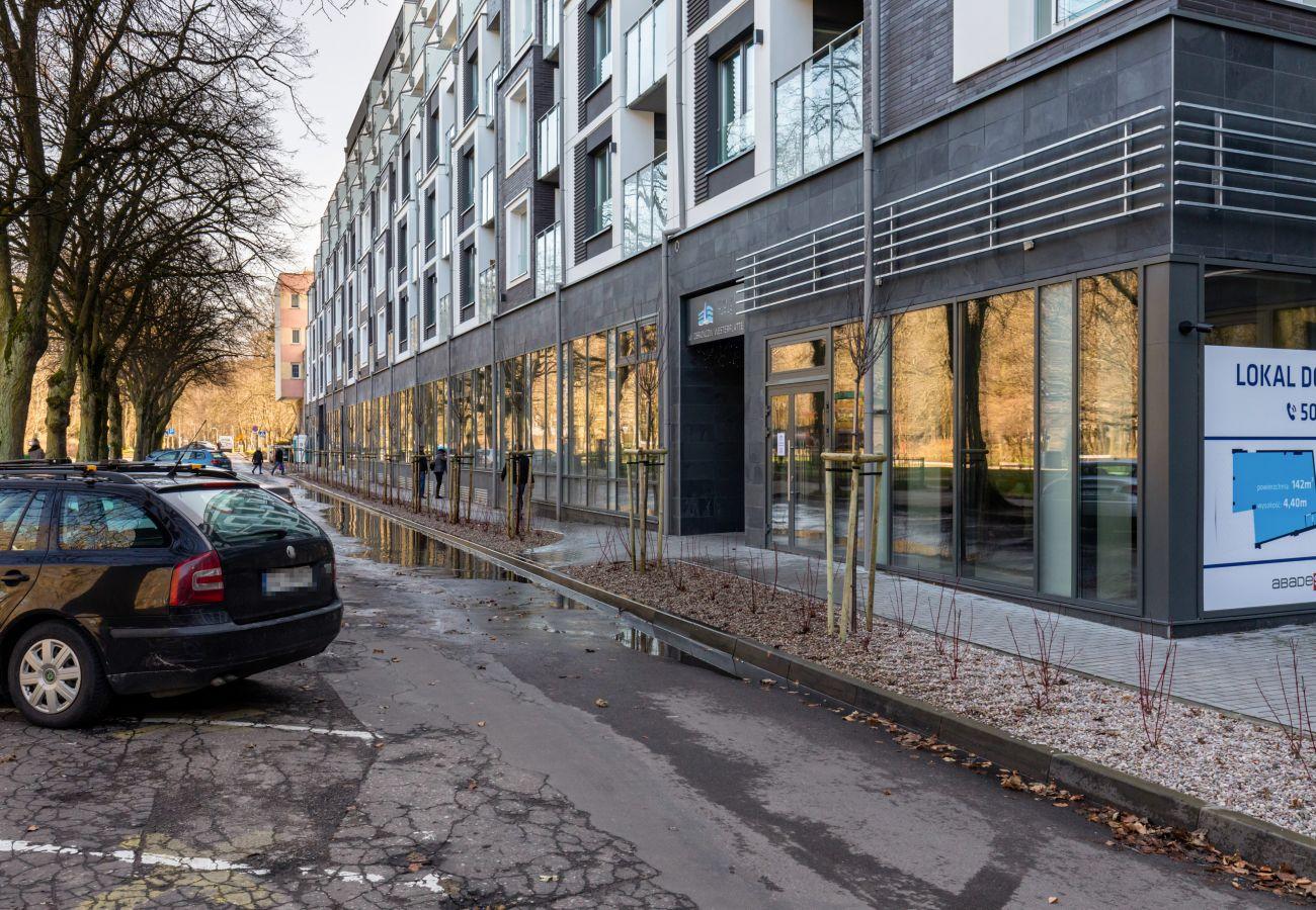 apartament, wynajem, zewnątrz, budynek, Nadmorskie Tarasy, Kołobrzeg, ulica, nad morzem