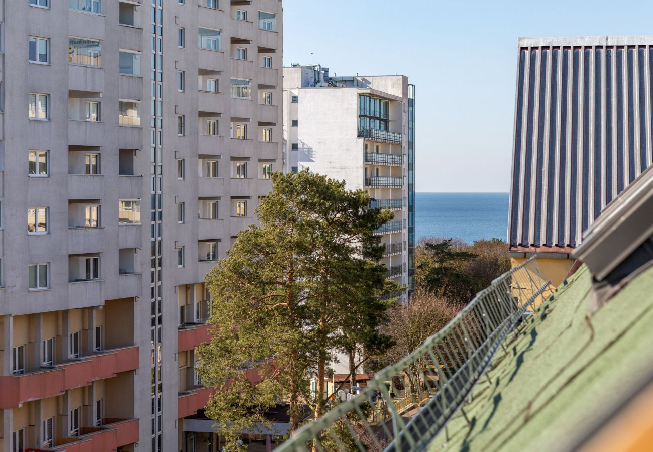 apartament, wynajem, salon, widok, morze, Bałtyk, Międzyzdroje
