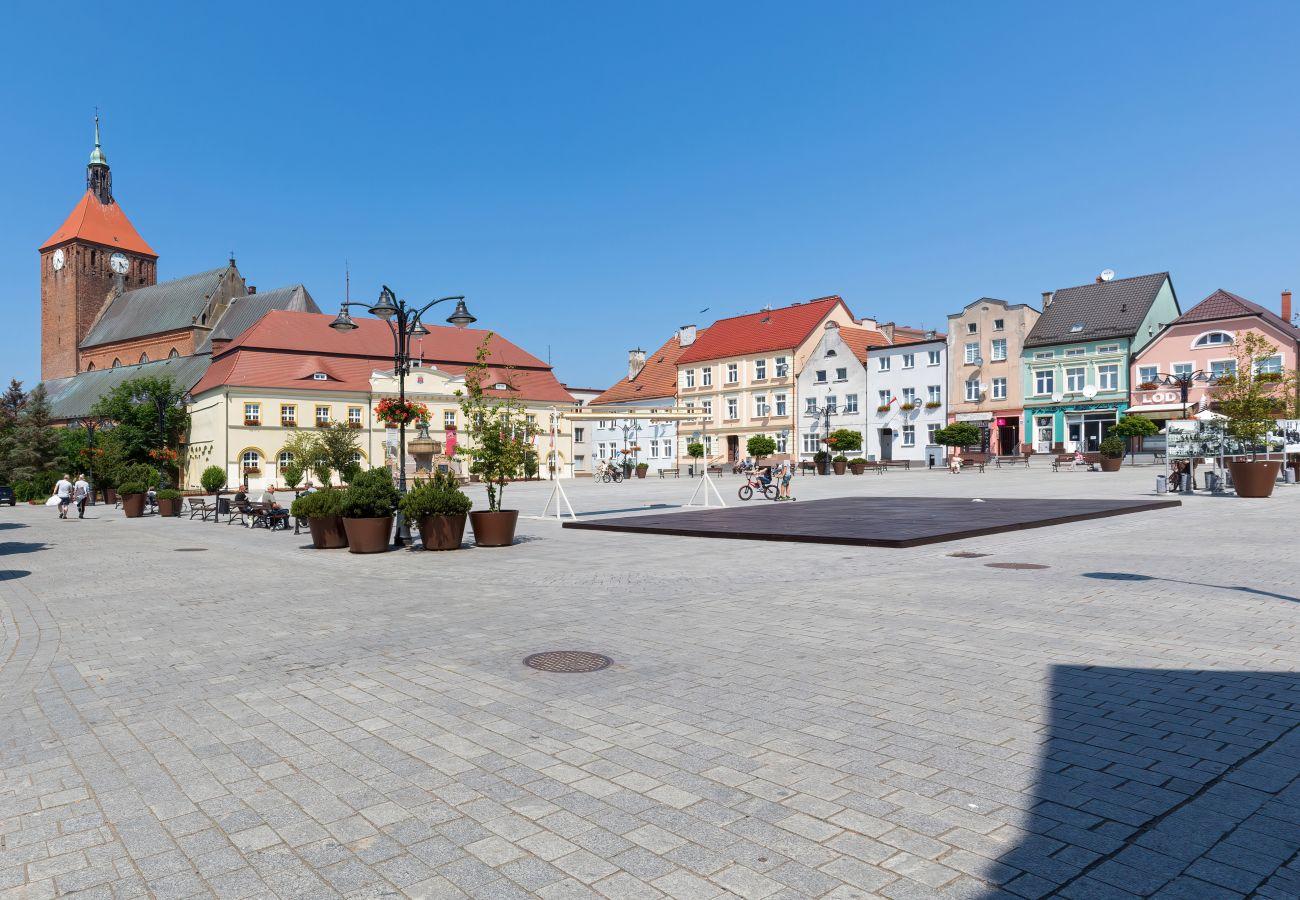 apartament, wynajem, zewnątrz, budynek, Darłowo, Plac Kościuszki, rynek, wakacje