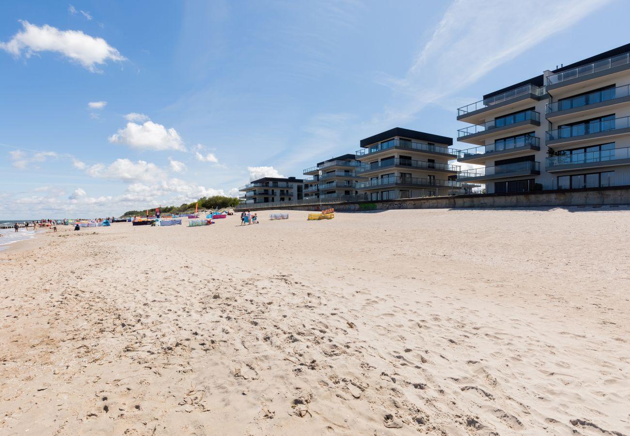 na zewnątrz, mieszkanie, budynek mieszkalny, apartament, wynajem, Gardenia Seaside, Dziwnów, nad morzem, wakacje, plaża