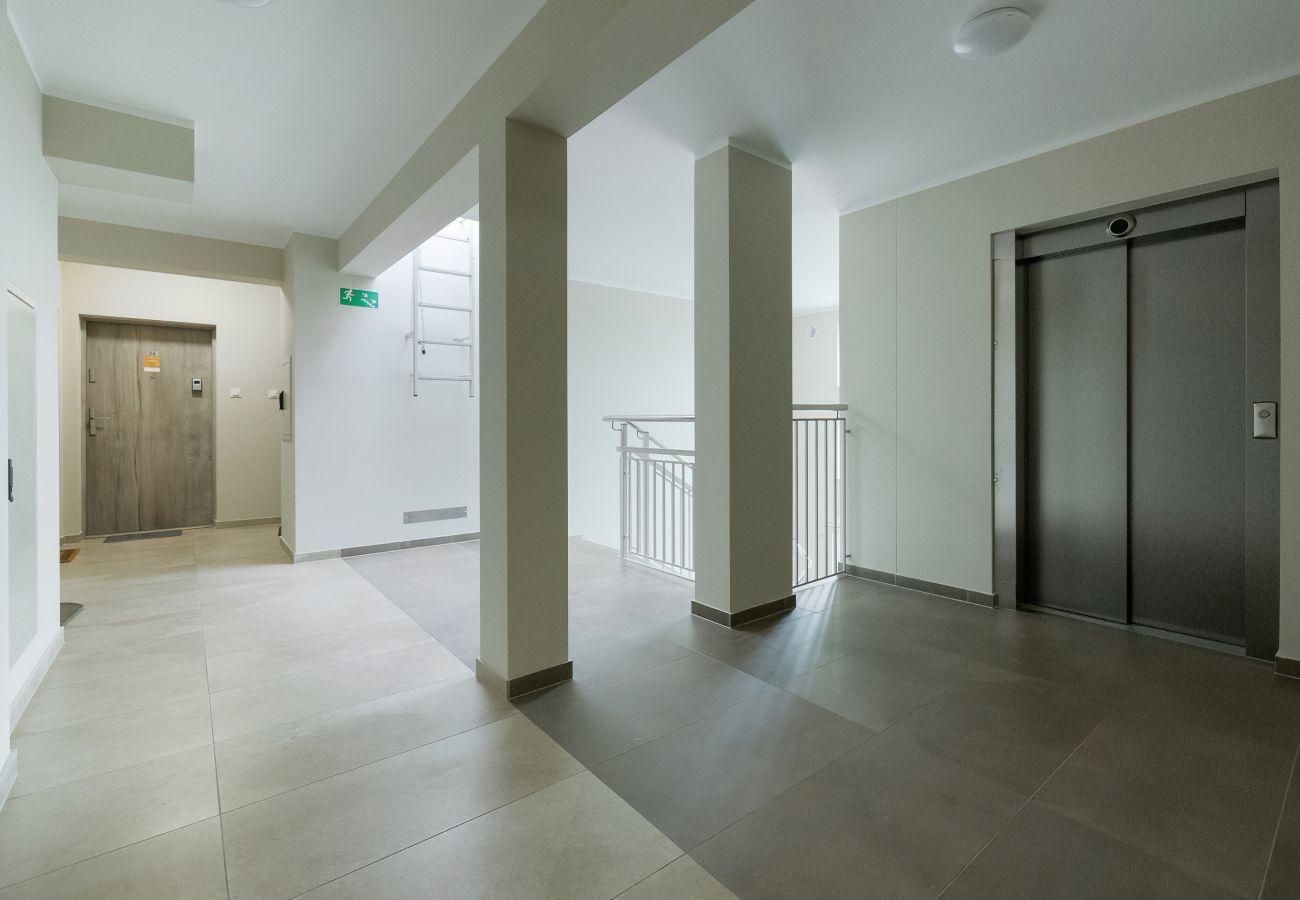 wnętrze, mieszkanie, korytarz, budynek mieszkalny, wejście, wynajem, apartament, Paryska 3